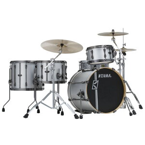 "TAMA ML40HZBN2-SSV [SUPERSTAR HYPER-DRIVE DUO KIT 〜 FEATURING 14""x10"" DUO SNARE 〜 / Satin Silver Vertical Stripe]【ドラムステーション・限定入荷!】"