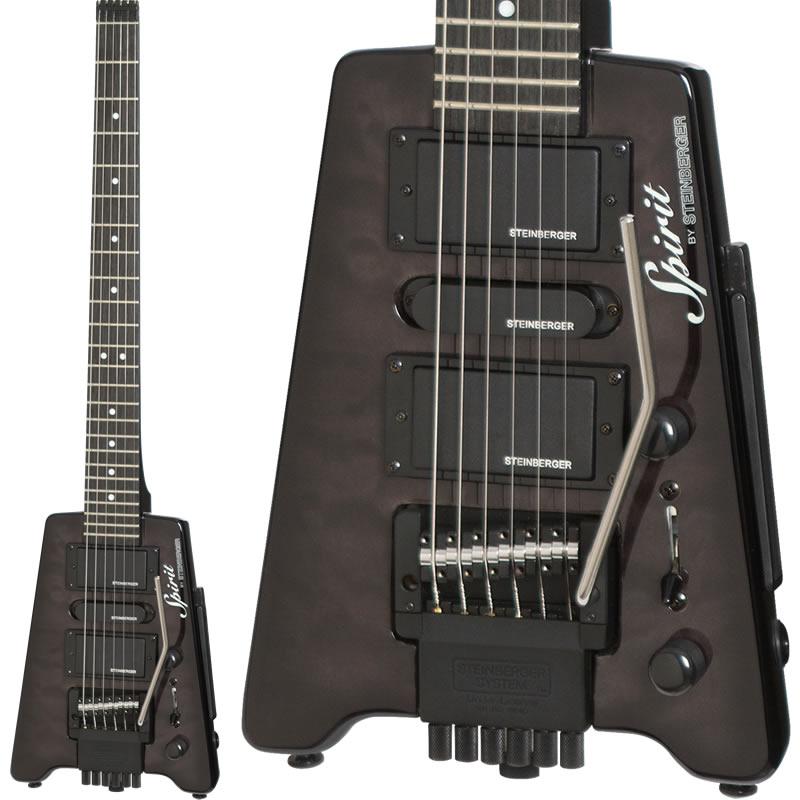 ギター, エレキギター Steinberger Spirit GT-PRO QUILT TOP DELUXE (TBTrans Black)
