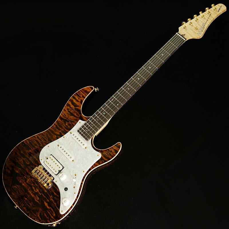 ギター, エレキギター FUJIGEN IKEBE ORDER EXPERT EOS Selected Quilt MapleFlame Maple Neck (Tiger EyeGold Voodoo Back) B180716