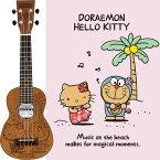 Leho DORAEMON×HELLOKITTY UKULELE [今年50周年を迎えるドラえもんと、昨年45周年を迎えたハローキティが夢のコラボレーション!!] 【送料無料】