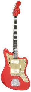 【エレキギター】Fender Japan IKEBE ORIGINAL JM-Modern Classic Fiesta Red w/Gold Anodized ...