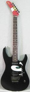 【エレキギター】SONIC THE HEDGEHOG GUITAR STH-130 (Mat Black w/Graphic) 【即納可能】