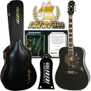 "Epiphone by Gibson Limited Edition Hummingbird PRO (Ebony) ""IKEBE 40th Anniversary Special Package"" 【エピフォン純正ストラッ…"