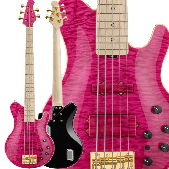 ESP GLAMBELLY (See Thru Pink) [L'Arc-en-Ciel tetsuya (TETSUYA) Signature Model] 【受注生産品】 【HxIv07_03】 【新製品ベース】