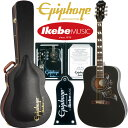 "Epiphone by Gibson Limited Edition Hummingbird PRO (Ebony) ""IKEBE 2016 Special Package"" 【エピフォン純正ストラップ・プレゼン…"