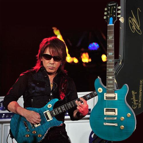 Epiphone by Gibson LIMITED MODEL TAK MATSUMOTO DC STANDARD PLUSTOP AQUA BLUE 【専用ハードケ...