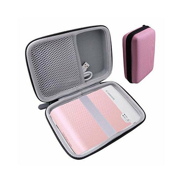 用のCanonスマートフォン用プリンターSELPHYSQUAREQX10専用保護キャリングケース収納ケース-waiyuJP(ピン