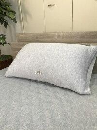 Ag+クールシルバー枕カバー筒型巾79cmX丈43cmブルー