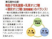 有胞子性乳酸菌+乳化オリゴ糖+環状オリゴ糖(食物繊維)のバランス!