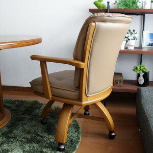 ダイニングチェアファト|回転肘付き肘付キャスター付きキャスター無垢木製北欧ダイニングチェアーダイニング椅子イスクッション食卓椅子単品おしゃれ送料無料02P25Oct14