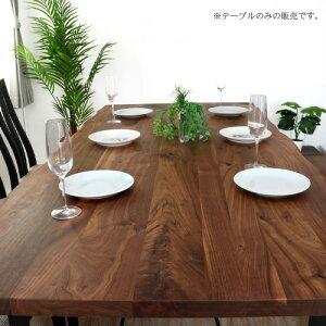 ダイニングテーブル180TEQUIRAテキーラ無垢6人掛けウォールナット無垢材アンティーク北欧幅180180cm幅180cmレトロモダン和モダンアイアン一枚板風6人6人用木製天然木単品おしゃれitpセール
