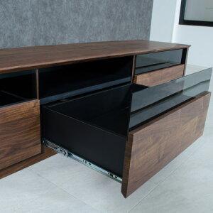 日本製テレビボード180北欧風国産木製ローボードtvボードアンティーク風引出整理収納便利家具人気スモークガラスシンプルおしゃれアクア