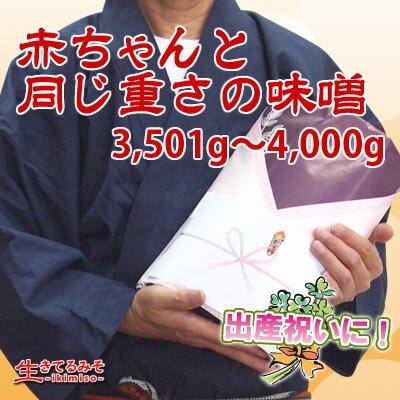 赤ちゃんと同じ重さの味噌3501g〜4000g
