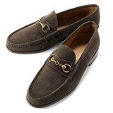 【SALE】イルモカシーノ IL MOCASSINO / 【国内正規品】 / 20SS!カーフスエードビットローファー「B-REVERSO/MGO」(FONDENTE/ダークブラウン)/ メンズ イタリア 靴 革靴 レザーシューズ ビットモカシン スリッポン