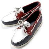 【SALE】セバゴ SEBAGO / 【国内正規品】 / 20SS!レザーデッキシューズ「PORTLAND」(NAVY×RED×WHITE/ネイビー×レッド×ホワイト)/ メンズ 靴 革靴 レザーシューズ モカシン アメリカ ドッグサイド ポートランド