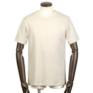 メゾン コルニション MAISON CORNICHON / 【国内正規品】 / コットン7オンスフライス半袖クルーネックカットソー「CLASSIC」(ECRU/エクリュ)/ メンズ フランス Tシャツ ティーシャツ ヘビーオンス リブ編み 無地