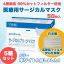 【5箱セット】サージカルマスク ユニチャーム 不織布 日本製