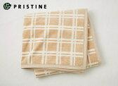 【プリスティン】ブラウンチェック綿毛布