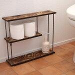 wood iron shelf 400*457*111(トイレ ラック スパイス アイアン 棚 キッチン シェルフ ウッド トイレットペーパー 鉄 木 収納棚 アンティーク ビンテージ シャビー)