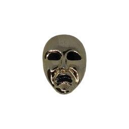 【中古】仮面 ピンズ 金色 マスク 留め具付き ラペルピン ピンバッジ ビンテージ