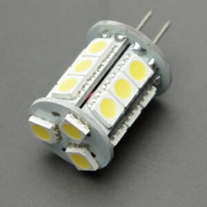 DC12V用 円筒型18LED 電球色(口金G4) キャンピングカーの照明等に ウォームホワイ…