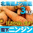 みずみずしくて、歯切れの良い食感!越冬で甘さとよい香り!北海道直送 雪下人参 3kgセット