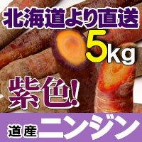 紫にんじん 5kg 北海道産 野菜セット 紫人参 ニンジン 贈り物 内祝い お返し ギフト 送料無料