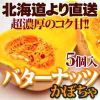 バターナッツ カボチャ 5個 北海道産 かぼちゃ ハロウィン 贈り物 内祝い お返し ギフト 秋の味覚