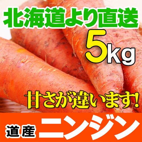 北海道産 ニンジン 5kgセットにんじんジュースに最高!人参 野菜セット 贈り物 内祝い お返し ギフト 送料無料