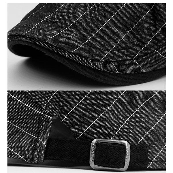 ストライプ柄 ハンチング 帽子 コットン ボーダー柄 キャップ ハンチング帽 綿 キャスケット メンズ レディース 春 夏 HUNTING CAP 7116