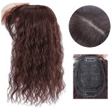 ヘアトップピースソバージュ部分ウィッグつむじ付きヘアピース前髪ウィッグウィッグトップカバーエクステウイッグ付け毛つけ毛かつらWIGMG010