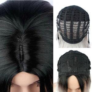 ワンレンボブフルウィッグショートボブストレートミディアムショート黒グラデーションカラー全頭かつら鬘カツラファッションウィッグコスプレウイッグレディース女性用WIGW3803