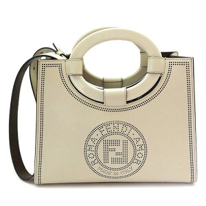 Fendi Handbag Ladies 8BH353 A8SL F19PN Shoulder Bag Runaway Shopper Small FF Logo Beige FENDI RUNAWAY SHOPPING SMALL [Spring Summer 2020]