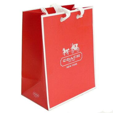 【メール便対応】コーチ COACH 正規店 ペーパーバッグ/紙袋/ショッパー 19.7×24.8×12cm レッド(スウィングパック・長財布・リストレットポーチ向け)【付属品】【紙袋】