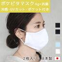2枚入り マスク 日本製 「ポケピタマスク Ag+」 抗菌 マスクカバー インナーマスク 洗える 夏マスク フィルターポケット付き 接触冷感 ひんやり UVマスク 紫外線対策 国産素材 在庫あり 即納 MASK4 【914】