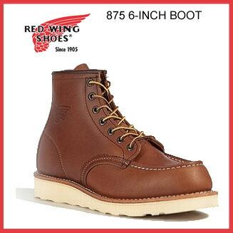刻印あり即日発送 REDWING 875 レッドウィング 6-INCH BOOT ブーツ オリジナルレザー MADE IN US...
