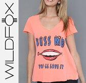 楽天スーパーセール特別価格 送料無料 即日発送 Wildfox ワイルドフォックス The Youll Love It V-Neck Vネック半袖Tシャツ /正規品取扱店舗/