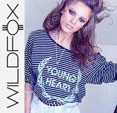 送料無料 即日発送 Wildfox ワイルドフォックスYoung Heart Tee Metal Black ロングTシャツ/正規品取扱店舗/