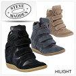 送料無料 Steve Maddenスティーブマデン Hilight Wedge Sneaker ハイライト ウェッジ スエード 本革 スニーカー ウェッジスニーカー /正規品取扱店舗/大きいサイズ取扱 so1