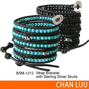 送料無料 CHAN LUU 正規品 chanluu チャンルー BSM-1212 Wrap Bracelet スカルレザーラップブレス...