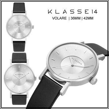 クラス14KLASSE14■保証あり■腕時計36mm42mmMARIONOBILEVOLARE時計レディースメンズユニセックスブラック黒シルバーレザー革ベルトVO14SR001WVO14SR001M