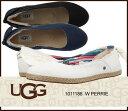 送料無料 UGG W PERRIE ペリー 1011186 /正規品取扱店舗/スリッポン フラットシューズ ムートン シープスキン ジュート s so1