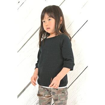 ◎日本製◎現役ママが考案◎ラグラン七分袖Tシャツ◎シンプルで厚地の七分袖Tシャツ◎ラグランスリーブ◎楽ギフ_包装コンビニ受取対応商品