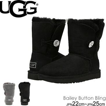 【10日 ポイント最大30倍】UGG Bailey Button Bling アグ ベイリーボタン ブリング ショートブーツ 3349 1016553 ムートン so1