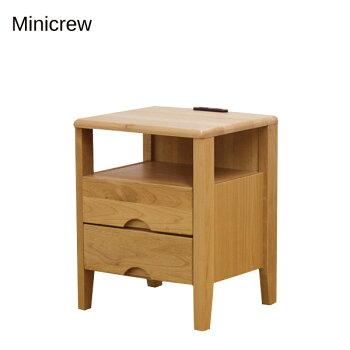 テーブルナイトテーブル【Minicrewミニクルナイトテーブル40-2】アルダームク材幅40【送料無料】