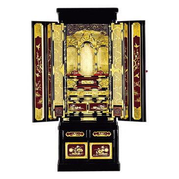 石川型台付 【加賀】 葡萄色蒔絵入 箔仕上 金仏壇 【送料無料】