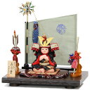 五月人形 真多呂 子供大将飾り 平飾り 【真多呂作 五月童】 子供大将 5月人形 端午の節句
