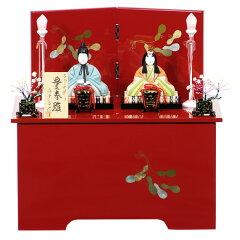 【展示現品】 真多呂人形 木目込み 雛人形 収納飾り 親王飾り 二人飾り 【898】【8A42…