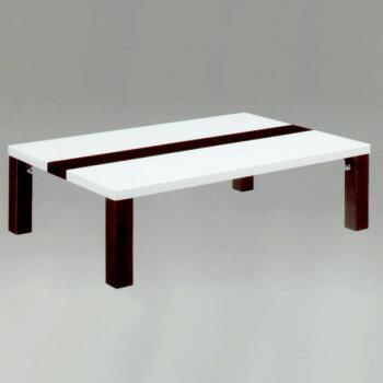 【送料無料】リビングテーブル120リビングテーブル【ボーダー・折脚】折脚タイプ座卓