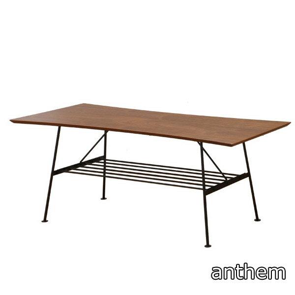 【anthem】アンセム センターテーブル ANT-2391BR 100リビングテーブル 天然木 木製 おしゃれ スチール ブラウン アンティーク風 シンプル モダン 北欧風 北欧テイスト